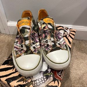 Ed Hardy Lowrise Shoes Camo